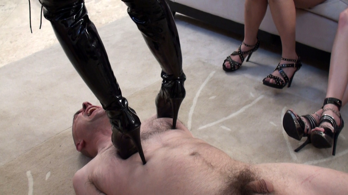 Face standing trample female domination