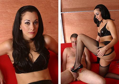 Femdom trampling mistress